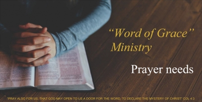 March 2016 - Ministry Prayer Needs