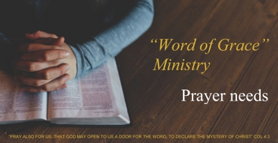 August 2016 - Ministry Prayer Needs