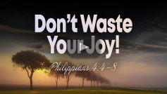 Don't Waste Your Joy!
