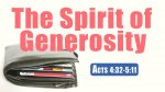 The Spirit of Generosity