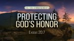 Protecting God's Honor